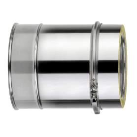 Chimenea de doble pared de 250 mm. Lineal. Para calderas de gasoil. AISI 304/304. Schutz