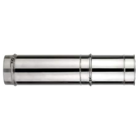 Módulo extensible de doble pared de 500 - 900 mm. Lineal. Para calderas de gasoil. AISI 304/304. Schutz