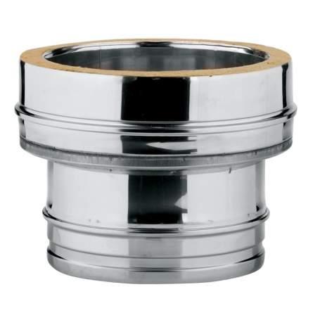 Adaptador simple-doble de caldera de doble pared. AISI 304/304. Schutz