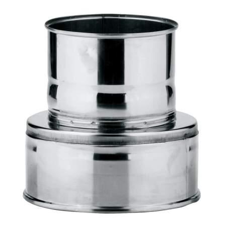 Adaptador simple-doble de caldera de doble pared. AISI 316/304. Schutz