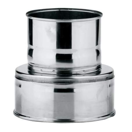 Adaptador de caldera doble-simple de doble pared. AISI 316/304. Schutz