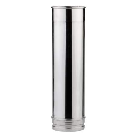 Chimenea de pared simple de 500 mm. Lineal. Para calderas de gasoil. AISI 304. Schutz