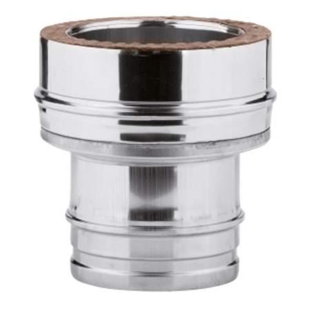 Adaptador simple-doble de caldera de pared simple. AISI 316/304. Schutz