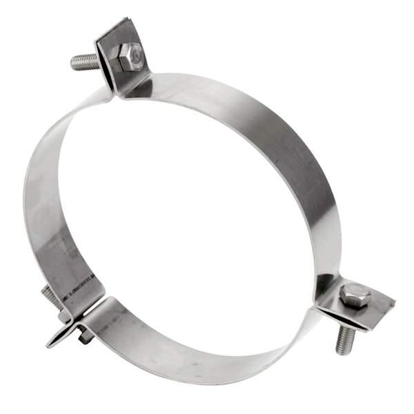 Abrazadera vientos para chimenea modular de simple pared. AISI 316/304-304/304. Schutz