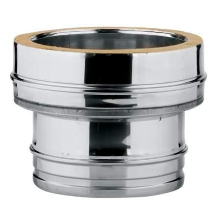 Adaptador de caldera doble-simple de doble pared. AISI 304/304. Schutz