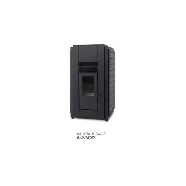 Hidroestufa Douro 23 kW negra de pellets aire/agua radiador Solzaima