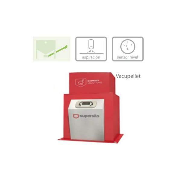 VACUPELLET sistema neumático aspiración calderas de Biomasa Supersilo