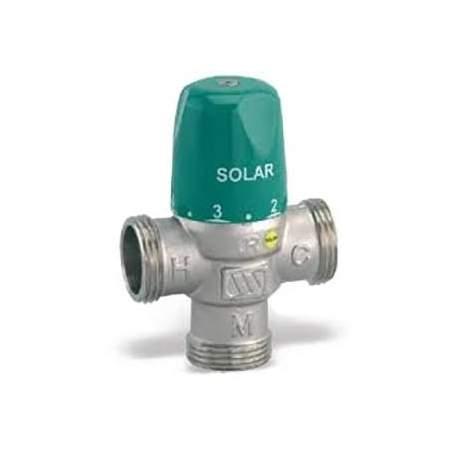 """Válvula mezcladora termostática MMV Solar de 1"""". Cuerpo DN25."""