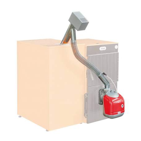 Quemador de pellet para adaptar a caldera SUN P12 de 55 kW Ferroli
