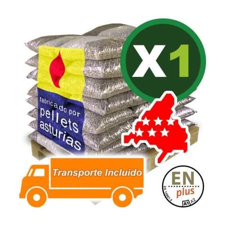 Pellets Asturias en sacos 1 palet en la Comunidad de Madrid