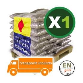 Pellets Asturias en sacos 1 palet en el resto península Ibérica