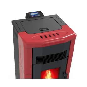 Estufa cerámica Fuji Basic de aire burdeos pellets 10 kW. Lasian