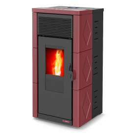 Estufas pellets 12 kW Teon EVO limpieza automática. Burdeos Lasian