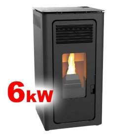 Estufas de pellets Audax 6 kW aire negras calientan hasta 160m3