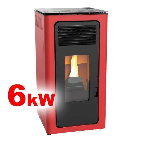Estufas de pellets Audax 6 kW aire burdeos calienta hasta 160m3