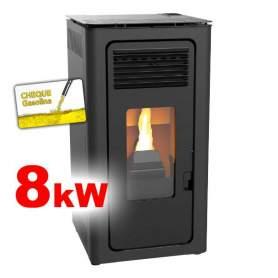 Estufas de pellets Audax 8 kW aire negra calientan hasta 65-70m2